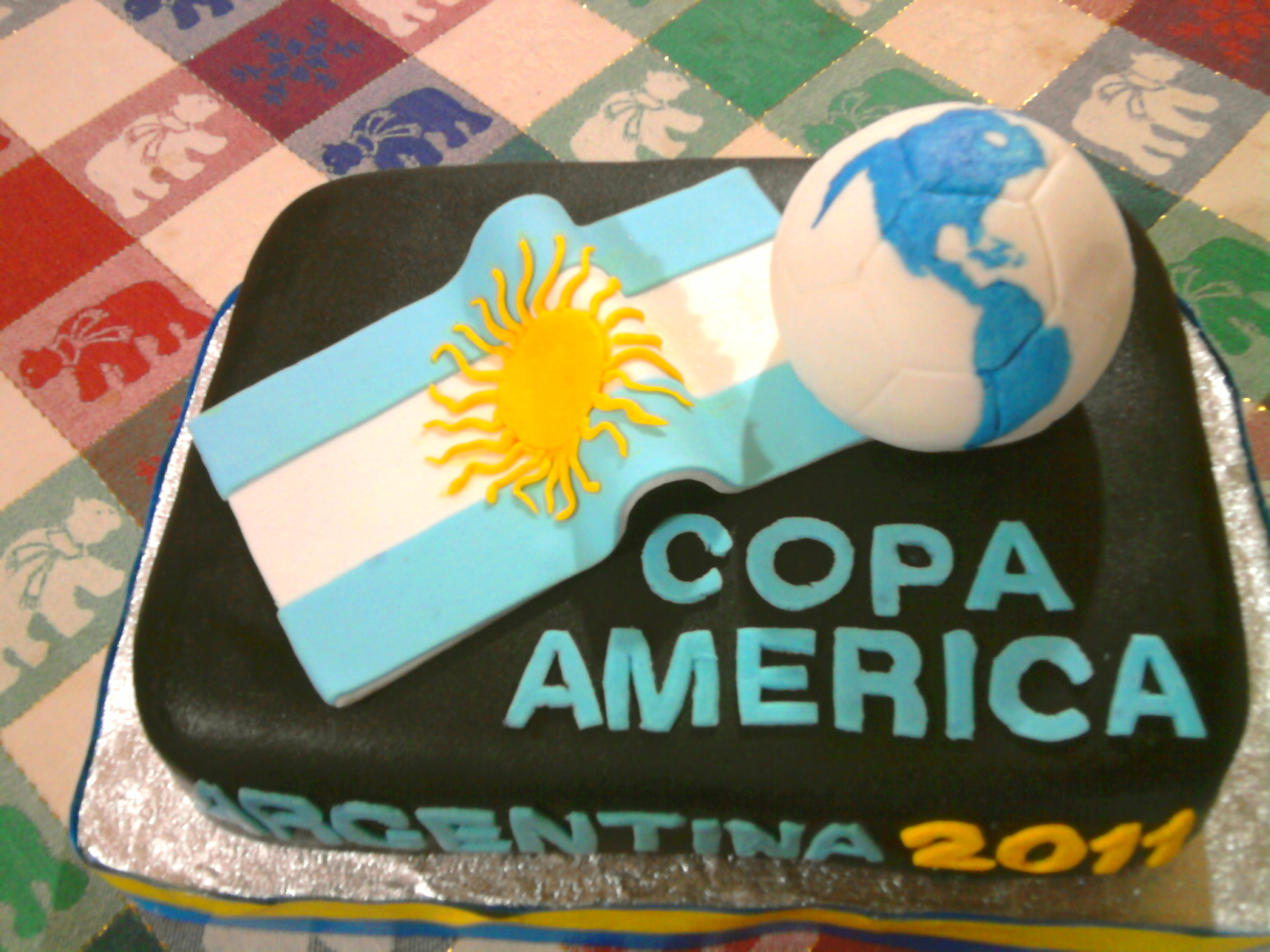 Argentina Soccer Cake