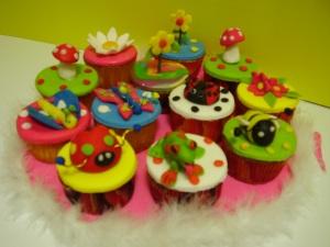 Cupcakes Jardin colorido